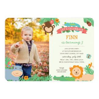 Im Dschungel-Geburtstags-Party laden Sie ein 12,7 X 17,8 Cm Einladungskarte