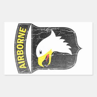 Im Flugzeug Armee 101 schreiender Adler Rechteckiger Aufkleber
