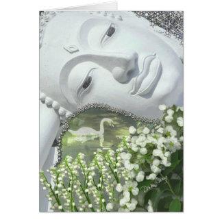 Im Garten - Quan Yin u. Blumen Karte