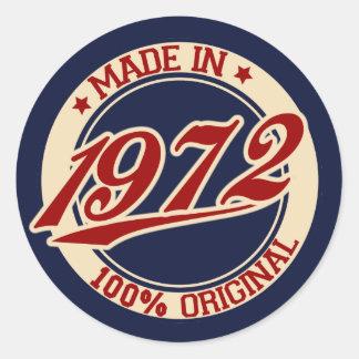 Im Jahre 1972 gemacht Runder Aufkleber