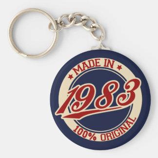 Im Jahre 1983 gemacht Standard Runder Schlüsselanhänger