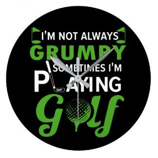 Im nicht spielendes Golf mürrisches manchmal Im Große Wanduhr