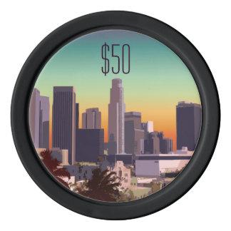 Im Stadtzentrum gelegenes Los Angeles - Poker Chip Set