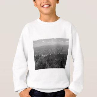Im Stadtzentrum gelegenes Portland Schwarzweiss Sweatshirt