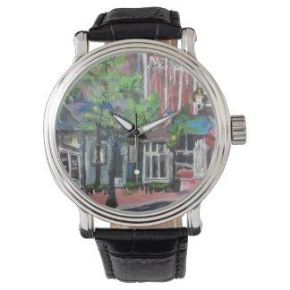 Im Stadtzentrum gelegenes Willoughby, Ohio-Malerei Uhr