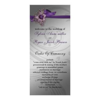 IMITAT-Band lila Hochzeitsprogramm Vollfarbige Werbekarte