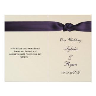 IMITAT beugt amethyst lila Hochzeitsprogramme Flyerdesign