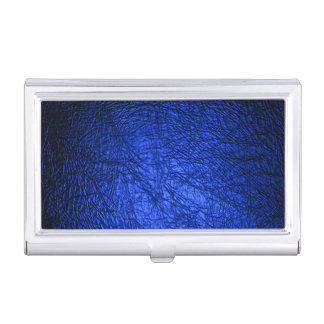 Imitat-blaue lederne Beschaffenheit Visitenkarten-Dosen