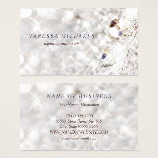 Imitat-Diamant Bling Glitter Bokeh Ereignis-Planer Visitenkarten