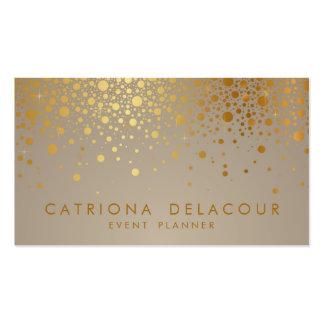 Imitat-GoldfolieConfetti punktiert moderne Visitenkartenvorlage