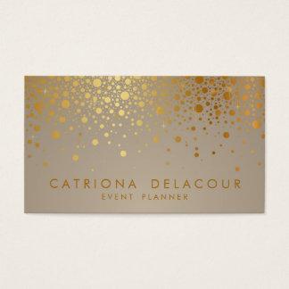 Imitat-GoldfolieConfetti punktiert moderne Visitenkarten