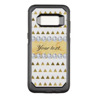 Imitat-Goldfolien-Dreieck-Muster und Diamanten OtterBox Commuter Samsung Galaxy S8 Hülle