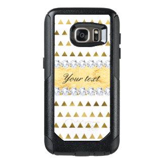 Imitat-Goldfolien-Dreieck-Muster und Diamanten OtterBox Samsung Galaxy S7 Hülle