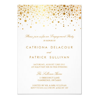 Imitat-Goldfolien-elegante Verlobungs-Party 12,7 X 17,8 Cm Einladungskarte