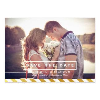 IMITAT-GOLDfolien-FOTO-SAVE THE DATE MITTEILUNG 12,7 X 17,8 Cm Einladungskarte