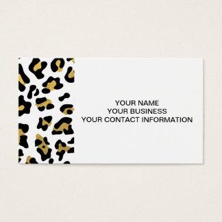 Imitat-Goldfolien-Schwarz-Leopard-Druck-Muster Visitenkarten