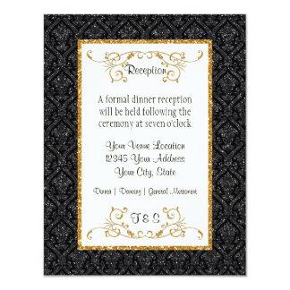 Imitat-GoldGlitter-Damast-Karten-Art-Empfang 10,8 X 14 Cm Einladungskarte