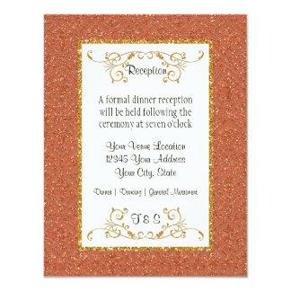 Imitat-GoldGlitter-Damast-Karten-Art laden ein 10,8 X 14 Cm Einladungskarte
