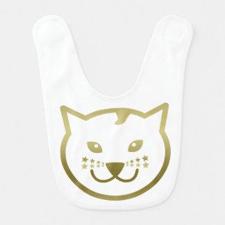 Imitat-Goldkatzen-Gesicht - kundenspezifische Babylätzchen