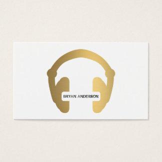 Imitat-Goldkopfhörer DJ-Geschäfts-Karte Visitenkarte