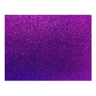 Imitat-lila violetter Glitter-Hintergrund-Schein Postkarte