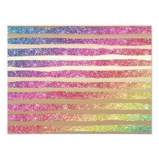 Imitat-Regenbogen-Glitter-Goldstreifen Fotodruck