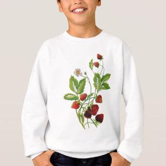 Imitat stickte frische Erdbeeren Sweatshirt