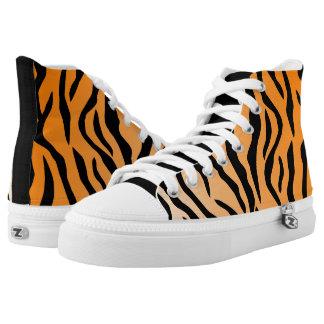 Imitat-Tiger-Druck-hohe Spitze Hoch-geschnittene Sneaker