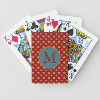 In den Küchen-Sternen auf rotem Monogramm Bicycle Spielkarten