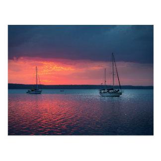 In den Sonnenuntergang | Cienfuego, Kuba segeln Postkarte
