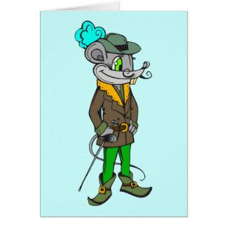 In der Hauben-Maus Mitteilungskarte
