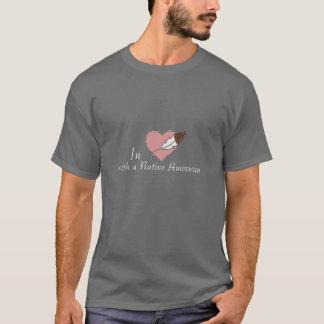 In der Liebe mit gebürtiger Amerikaner-Männern T-Shirt