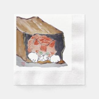 In der Papiertüte - Kätzchen versteckt sich… Papierserviette