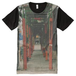 In der Stadt T-Shirt Mit Bedruckbarer Vorderseite