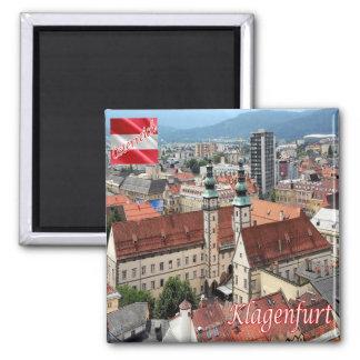 IN - Österreich - Klagenfurt morgens Wörthersee Quadratischer Magnet