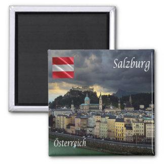 IN - Österreich - Salzburg Quadratischer Magnet