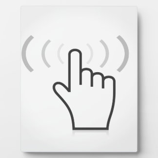 Indexieren Sie eine Hand Fotoplatte