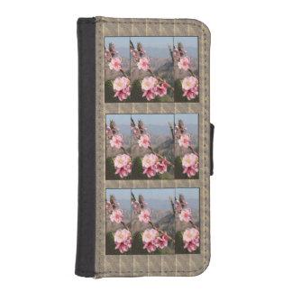 Indien 2016 tropische Frucht-rosa Blumen-Berge iPhone SE/5/5s Geldbeutel