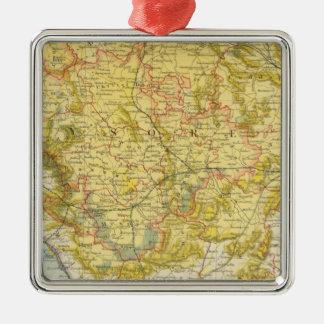 Indien 7 quadratisches silberfarbenes ornament
