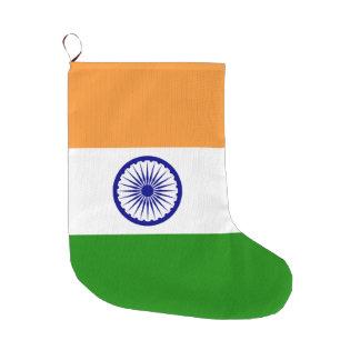 Indien-Flagge Großer Weihnachtsstrumpf