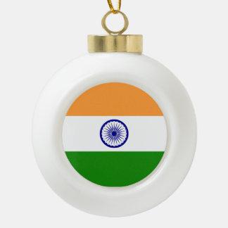 Indien-Flagge Keramik Kugel-Ornament