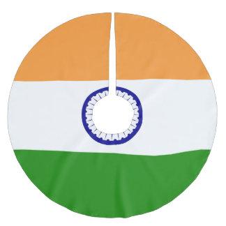 Indien-Flagge Polyester Weihnachtsbaumdecke