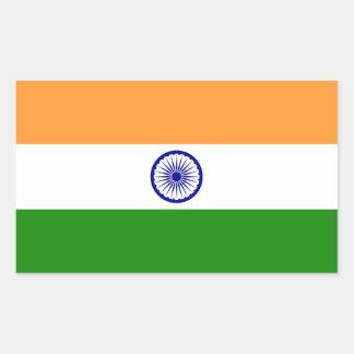 Indien-Flagge Rechteckiger Aufkleber