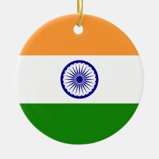 Indien-Flaggen-Verzierung Rundes Keramik Ornament