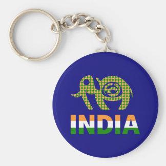 Indien, gemalter Elefant Schlüsselanhänger