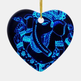 Indien Keramik Herz-Ornament