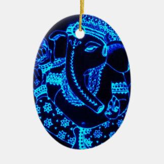Indien Ovales Keramik Ornament