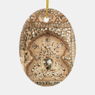 Indien-Palast-Entwurf Ovales Keramik Ornament