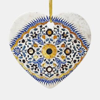 Indien-Palast-Malerei Keramik Herz-Ornament