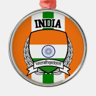 Indien Rundes Silberfarbenes Ornament